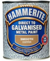Hammerite Direct To Galvanised Metal Paint 750ml - Copper